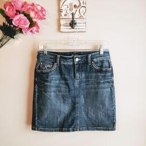 Womens WHBM Jean Skirt Size 0 (#94)